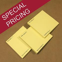 customized personalized yellow Post-it notes